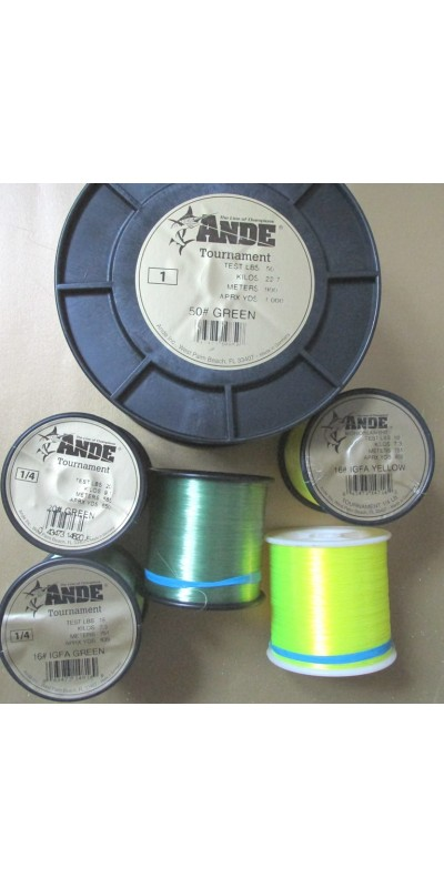 Ande monofiament IGFA rated reel line