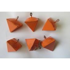 Pyramid wedge  Leads 170grm Orange